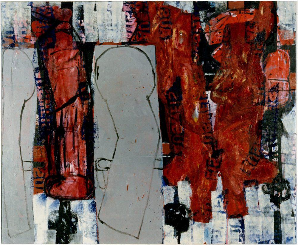 Harry Visser | Kaddisj 1 ca. 1989 | olieverf | 125 x 150 cm