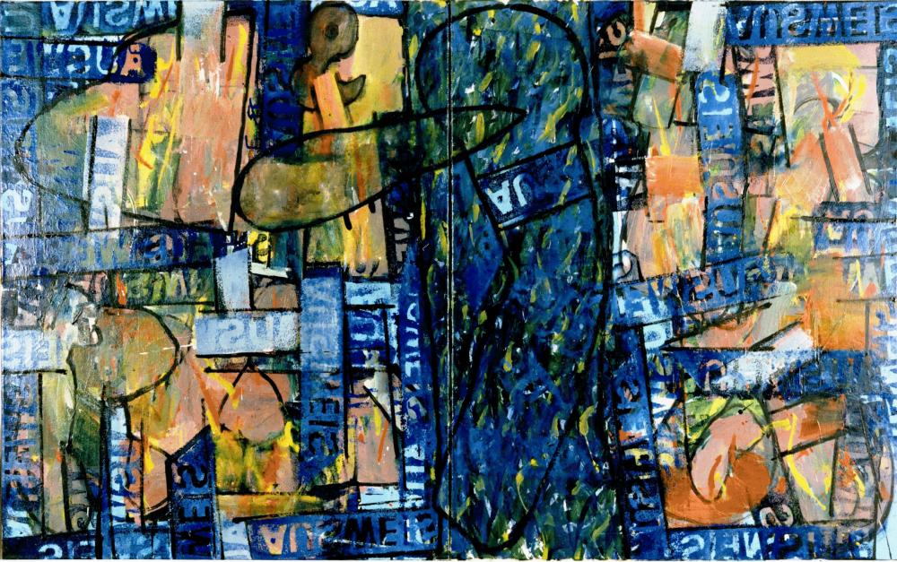 Harry Visser | Vluchten kan niet meer | olieverf 100 x 160