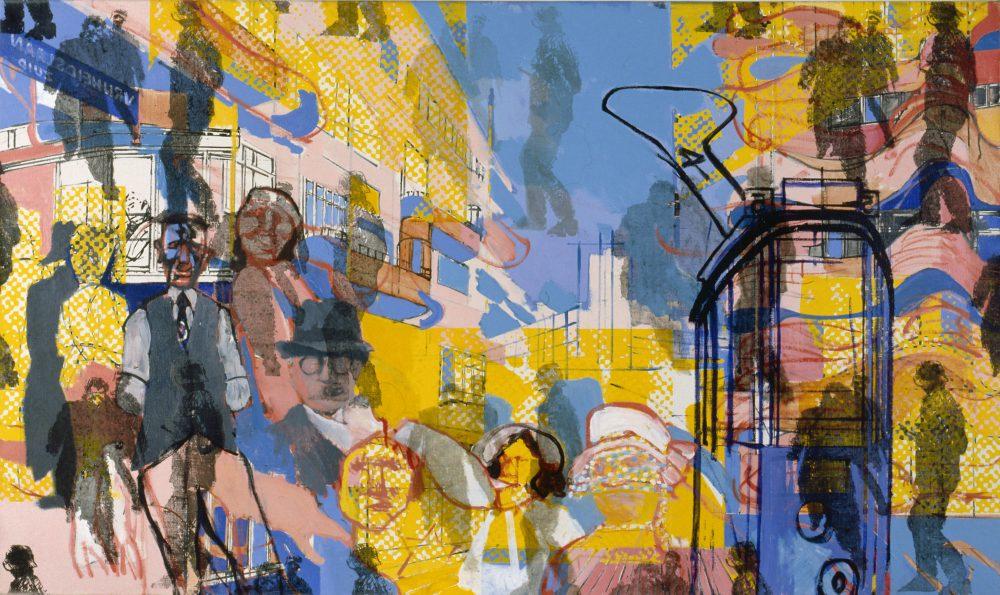 Harry Visser | Laatste rit 1981 | olieverf | 120 x 200 cm