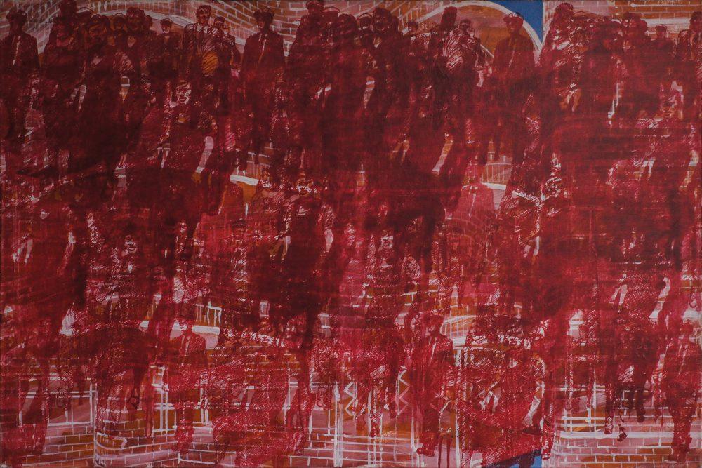 Harry Visser | Huurstaking Borssenburgerstraat | olieverf | 120 x 160 cm