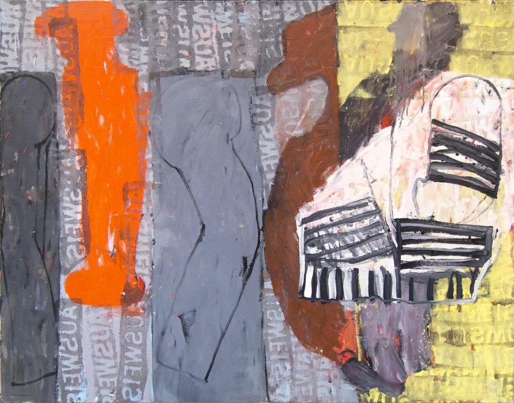 Harry Visser | Kaddisj 2 ca. 1989 | olieverf | 125 x 150 cm