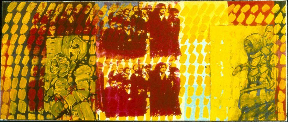 Harry Visser | Deportatie 1981 | acryl |