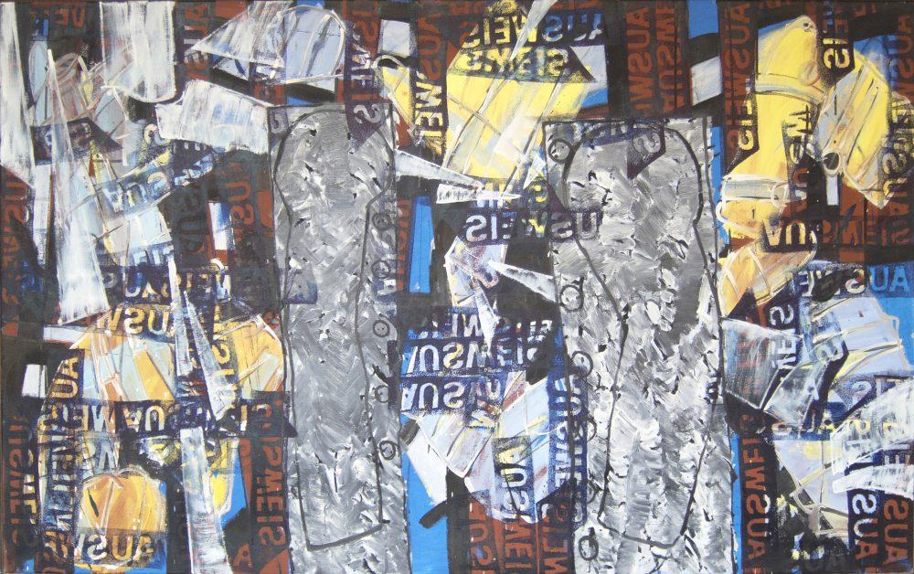 Harry Visser | Kristallnacht ca. 1989 | olieverf | 120 x 200