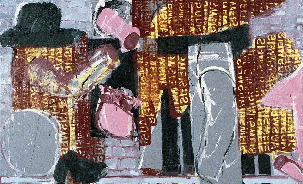 Harry Visser | Moeizame omgang | olieverf | 125 x 200 cm