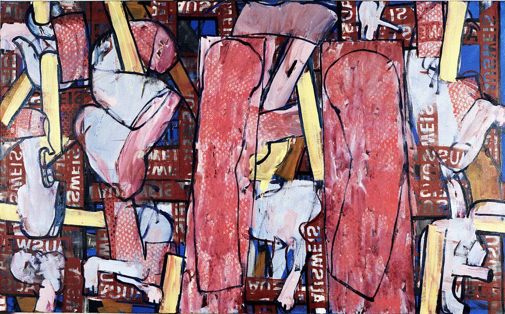 Harry Visser | Pogrom ca. 1989 | olieverf | 120 x 200 cm