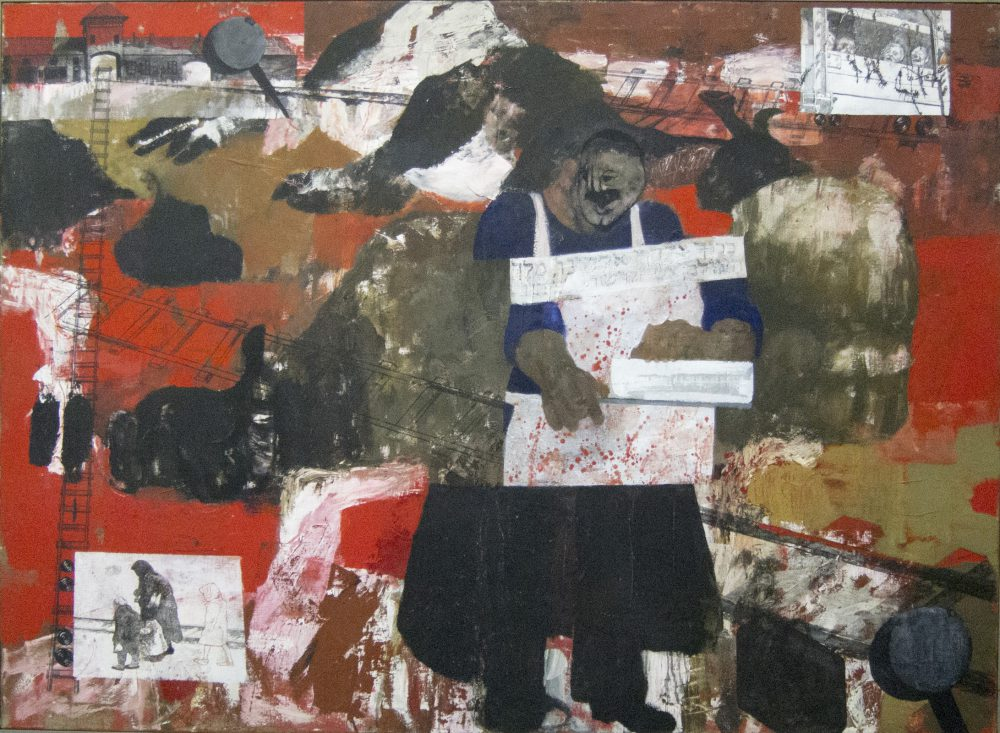Harry Visser | Kosjere slachter 1983 | olieverf | 110 x 150 cm