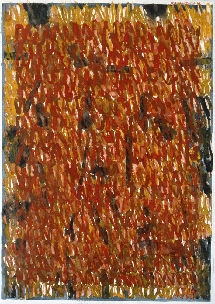 Harry Visser | Herfstboom rood | aquarel