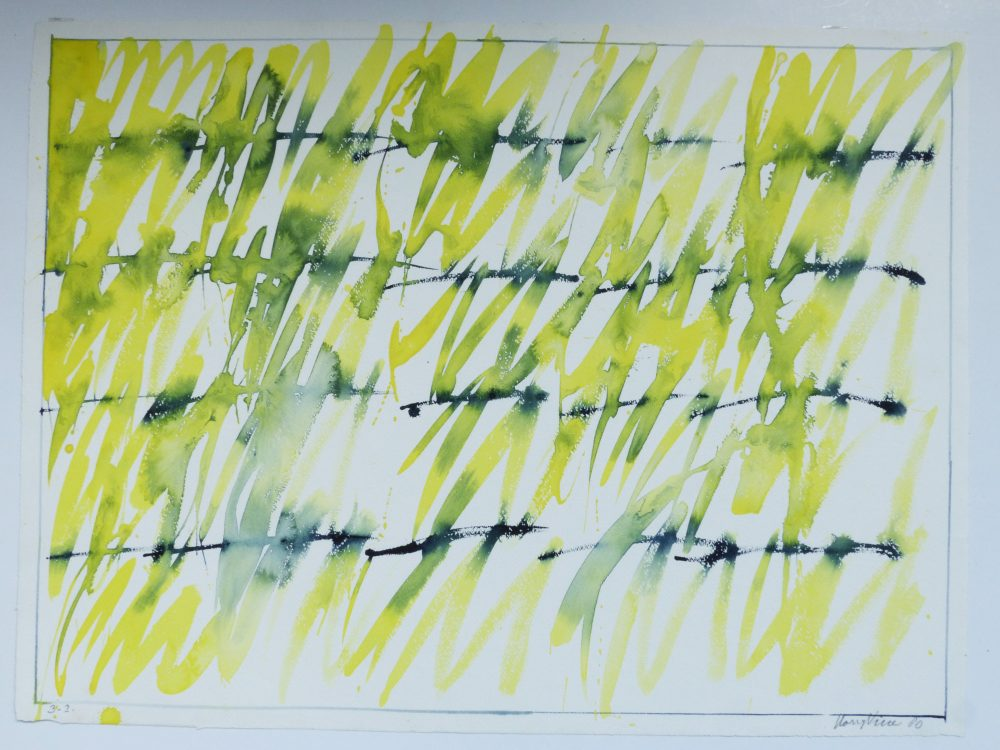 Harry Visser | Gele bladeren 5 | aquarel
