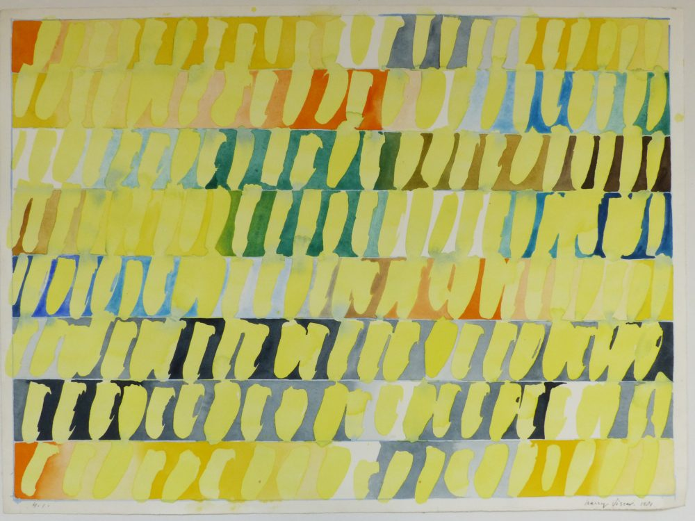 Harry Visser | Gele bladeren 6 | aquarel